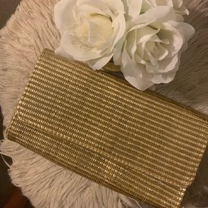 H&M gold clutch